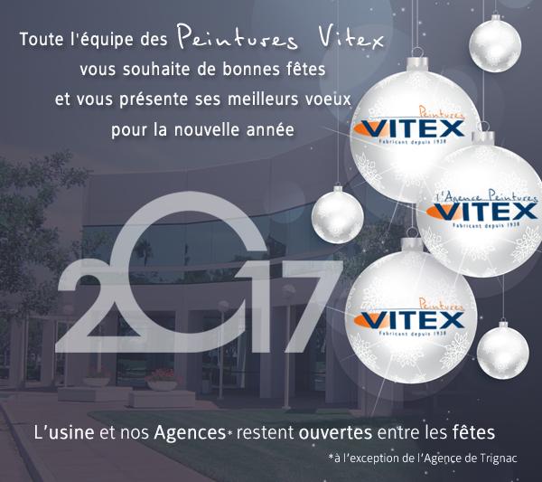 Peintures Vitex vous souhaite de joyeuse fêtes